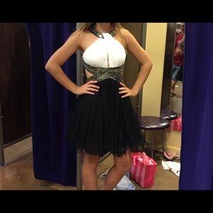 black & white homecoming/ formal dress!